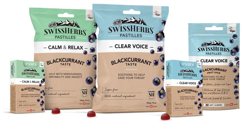 SWISSHERBS PASTILLES<sup>®</sup> &#8211; UN PLAISIR POUR VOTRE SANTÉ